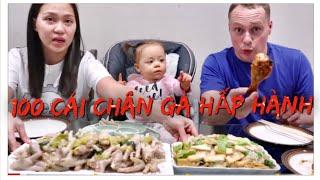 Vlog 511 ll Cùng Bà 2 Ăn 100 Cái Chân Gà Hấp Hành