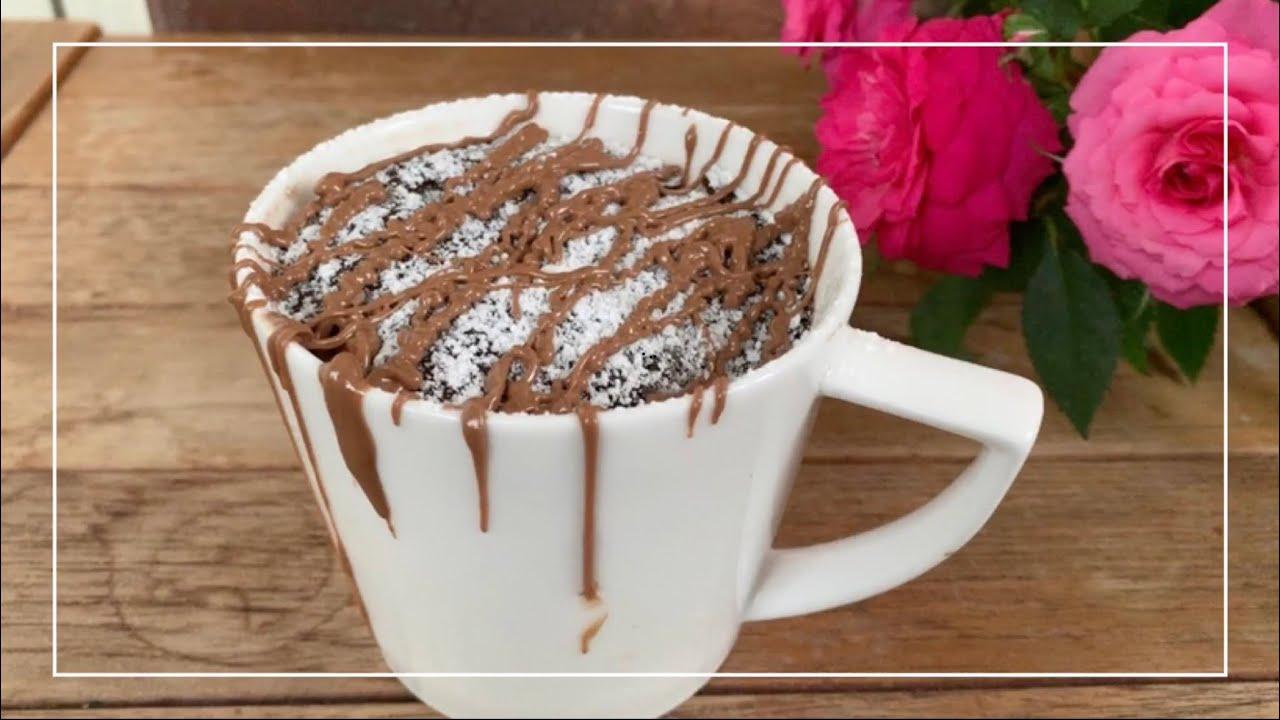 TikTok trendy delicious ONE minute Mug cake طريقة عمل أسهل ...