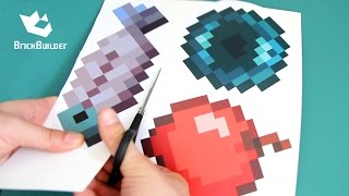 Making Minecraft tools part #3 with DOWNLOAD LINK - Ender pearl, Raw Fish, Cooked fish, Apple
