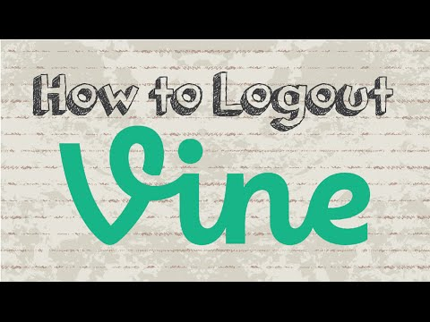 How to logout Vine account   Mobile App (Android & Iphone)