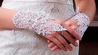 свадебные перчатки кружевные без пальцев 0 32$ посылка покупка с китая aliexpress