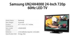Samsung UN24H4000 24 Inch 720p 60Hz LED TV review