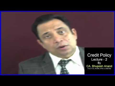 credit policy mgt lecture 2 part 1 CA / CMA /CS /B.Com /MBA/