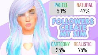 MY INSTAGRAM FOLLOWERS CREATE MY SIM✨💜 // THE SIMS 4 | CAS CHALLENGE