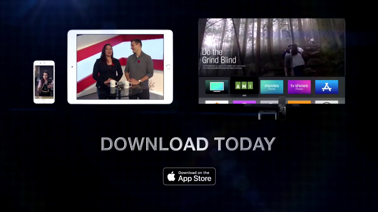 The accessible AMI-tv App for iOS and tvOS | Accessible