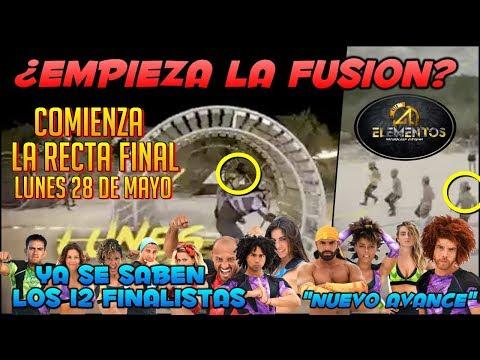 """COMIENZA LA FUSION EN 4 ELEMENTOS """"Ya se conocen los 12 finalistas"""" LUNES 28 DE MAYO"""