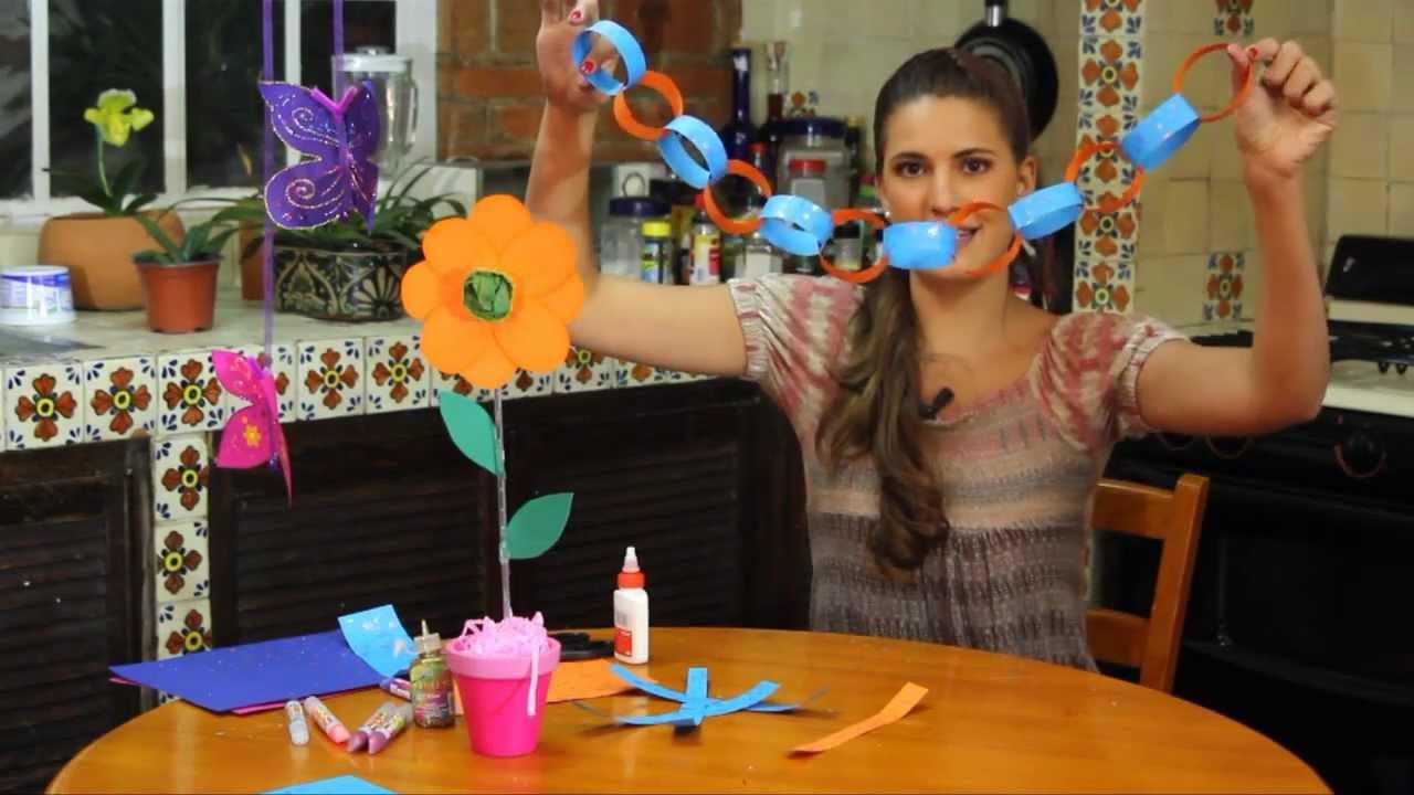 Cadena decorativa de papel youtube - Como hacer cadenetas de papel para fiestas ...