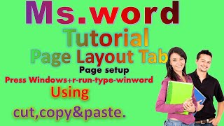 MS word page layout tab in hindi#page layout tab (page setup)