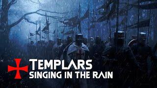 Templars singing in the rain - Salve Regina, Crucem Sanctam Subiit, Benedicat nos Deus