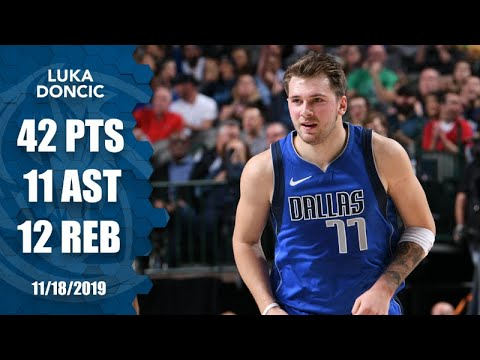 Luka Doncic joins LeBron: youngest players to get 40-point triple-double | 2019-20 NBA Highlights