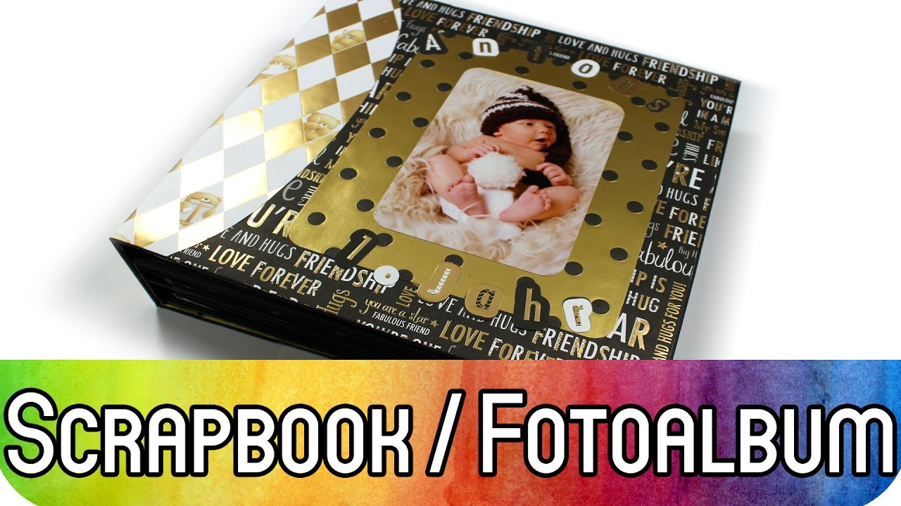 how to scrapbooking tutorial gro es fotoalbum f r ca 80. Black Bedroom Furniture Sets. Home Design Ideas