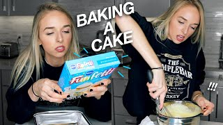 BAKING A CAKE (for myself)
