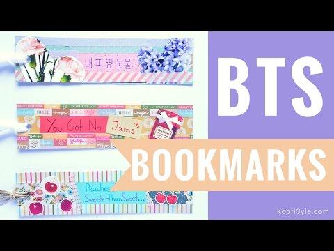 【KPOP DIY】 Make Cute & Fun BTS Bookmarks ♥! (Sub ESP)