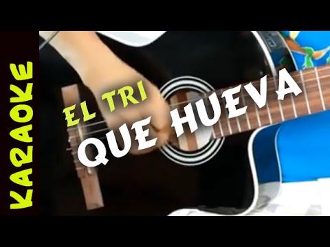 QUE HUEVA Karaoke con Guitarra. acordes