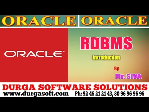 Oracle || Oracle RDBMS Introduction by Siva