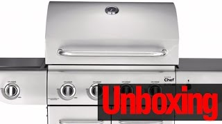 master chef elite 4 burner natural gas bbq unboxing sneak peek of set up guide manual