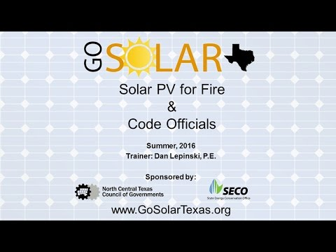 Solar PV for Fire and Code Officials Workshop
