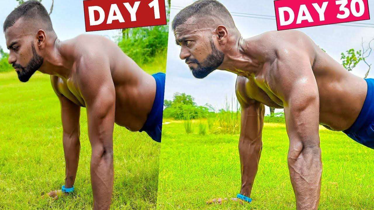 Push Up Challenge - जो आपकी जिंदगी बदल देगा (30 DAYS RESULTS)