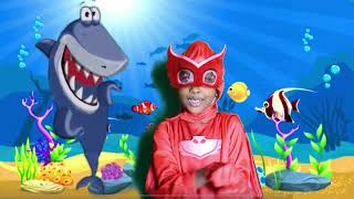 BABY SHARK ! OWLETTE IN REAL LIFE! Sing along with Owlette !