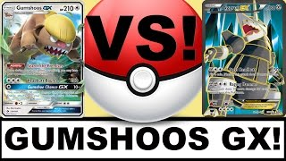 Pokemon Gumshoos GX VS Aggron EX! Jenna Em PTCGO