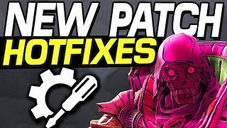 Borderlands 3 - NEW PATCH LEGENDARY NERF HOTFIX & MORE CHANGES !!