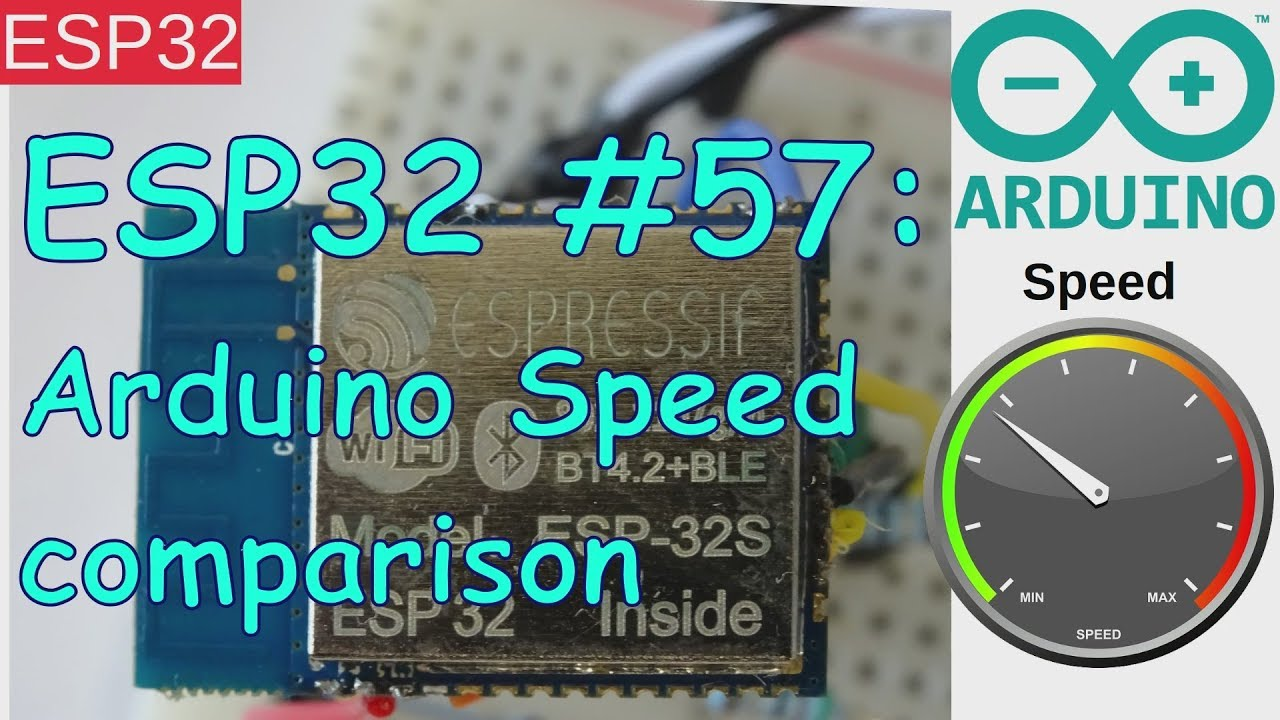 ESP32 #57: ESP32 Arduino Speed Comparison