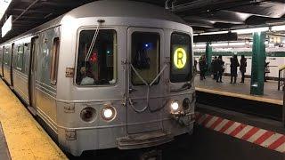 NYC Subway HD 60fps RARE: R46 R Train via D Line @ West 4th St - Washington Square (12/10/16)
