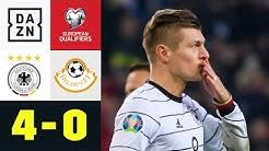 Kroos zaubert Deutschland zur EM: Deutschland - Weißrussland 4:0 | EM-Quali | DAZN Highlights