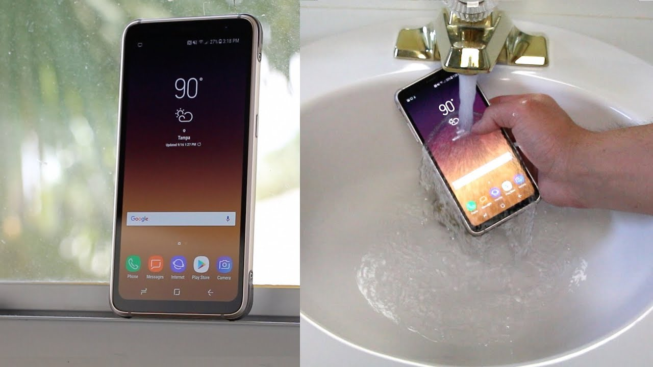 half off b1738 c9184 Samsung Galaxy S8 Active Review + Water Test!