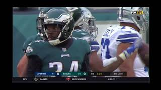 Dallas Cowboys Vs Philadelphia eagles no score game 2 min left in 3rd quarter