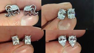 Latest Silver Earrings Designs/Stud silver earrings