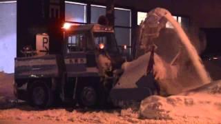 Rotary Snowplow NICHIJO HTR141 in Sapporo 日本除雪機製作所ロータリ除雪車/札幌市