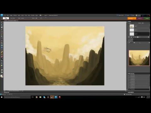 Photoshop Landscape Speedpaint