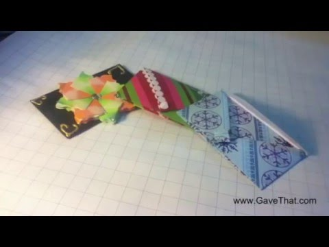 how to origami gift card holder envelope easy tutorial youtube