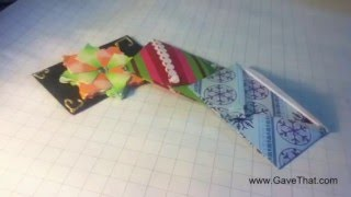 How To: Origami Gift Card Holder Envelope - Easy Tutorial!
