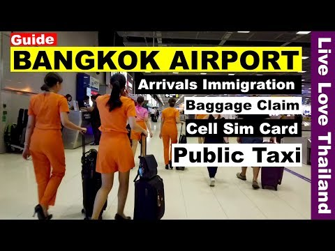 bangkok-airport-guide---immigration-/-baggage-claim-/-sim-card-/-public-taxi-#livelovethailand