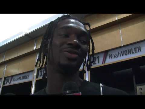 Noah Vonleh discusses his hot shooting night in Trail Blazers season opener