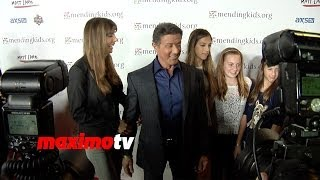 """Sylvester Stallone and Family Attend Mending Kids """"Rock N"""