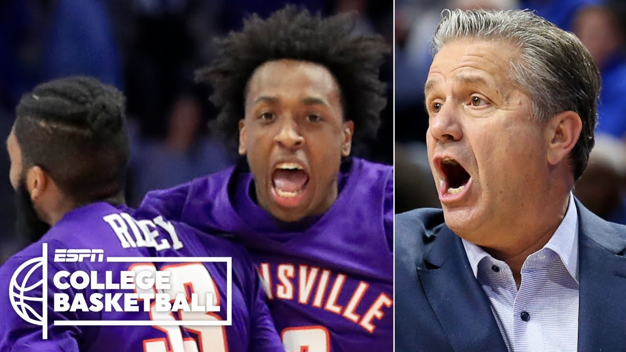 No 1 Kentucky Stunned By Unranked Evansville 67 64 College Basketball Highlights