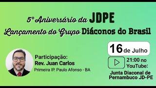 Rev. Juan Carlos   As realidades do Ofício Diaconal presentes na Igreja Reformada   IPB