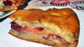 Вкусный  необычный  пирог с ягодами