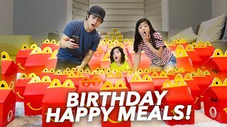 BUNCH OF HAPPY MEALS FOR BABY SIS BIRTHDAY!! | Ranz and Niana