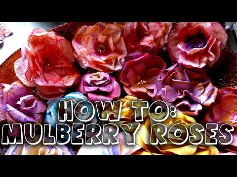 How to make mulberry paper roses - Petronela
