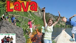 The Floor Is Lava - LAVA MONSTER - Caught Hiking In The Mountains! / That YouTub3 Family