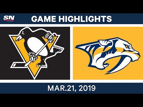 NHL Game Highlights | Penguins vs. Predators - March 21, 2019