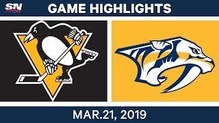 NHL Game Highlights | Penguins vs. Predators - March 21, 2019