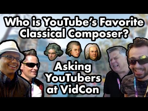 Asking YouTubers Who Their Favorite Classical Composer Is at VidCon 2017 + Channel Update