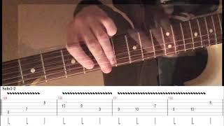 """Разбор соло гитары. """"Спокойная ночь"""" - Кино ( В.Цой)."""
