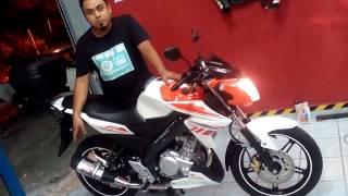 Yoshimura R11 exhaust Yamaha fz150i sound Malaysia