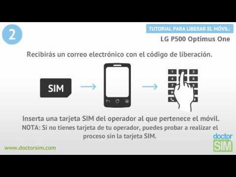 Liberar móvil LG P500 Optimus ONE   Desbloquear celular LG P500 Optimus ONE